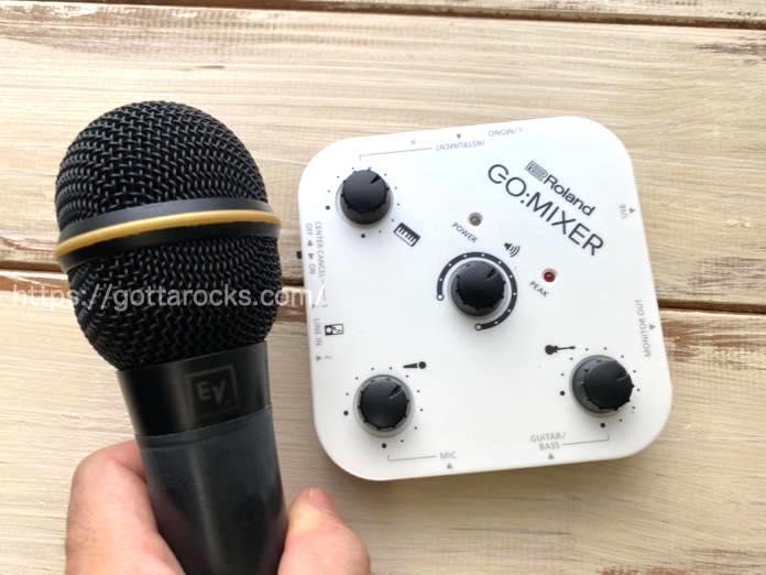 Roland GO MIXER  マイク ノイズ デメリットIMG 4664