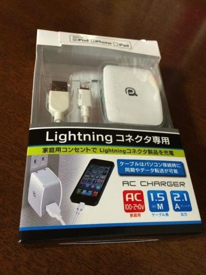 iPhoneやiPadのACチャージャー+ケーブルLightningコネクタ 購入
