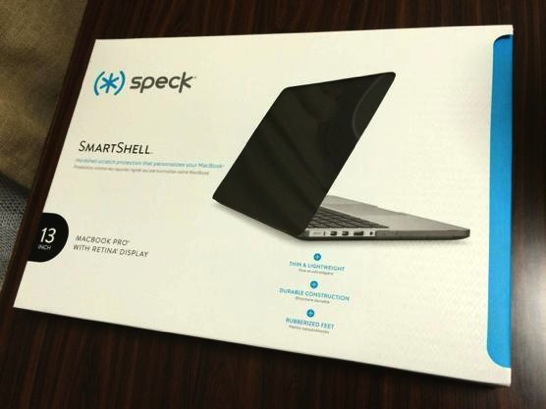 Speck 13インチ SmartShell Satin for MacBook Pro Retina ディスプレイモデル (Black)