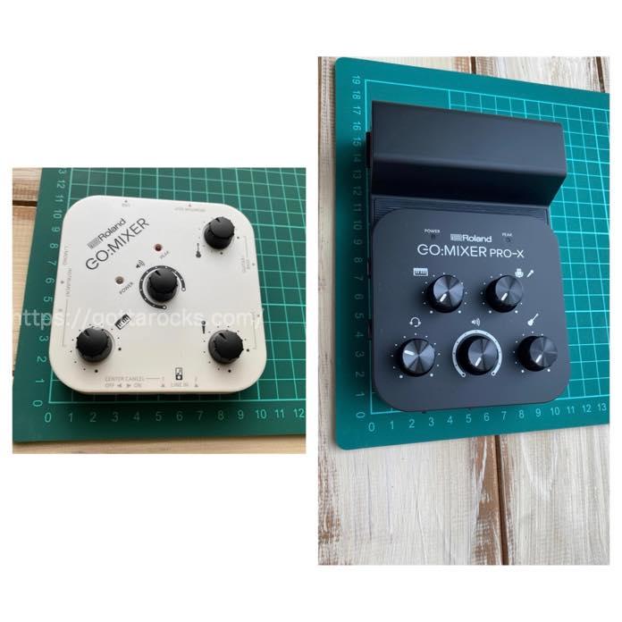 Roland go mixer PRO x 比較