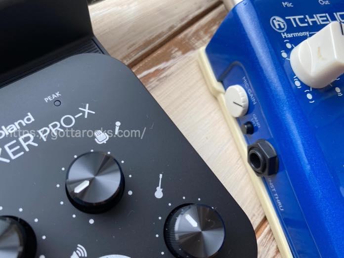 Roland go mixer pro x Roland GO MIXER マイク ノイズ 対処法
