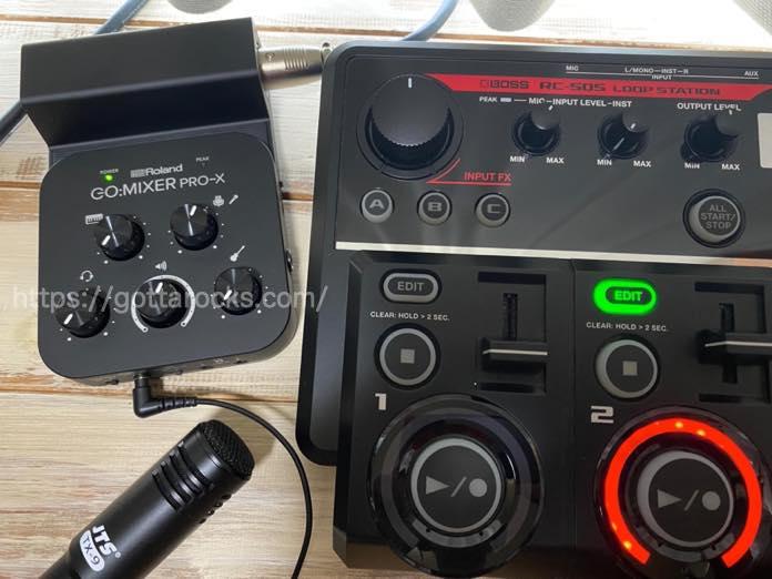 Roland go mixer pro x レビュー メリット デメリットIMG 5455