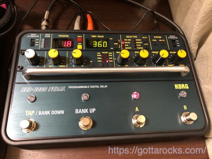 KORG SDD 3000 PEDAL レビュー IMG 4790